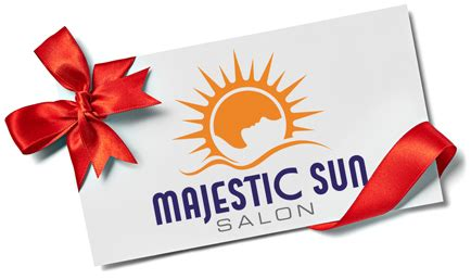 purchase gift cards majestic sun salon - Majestic Gift Card