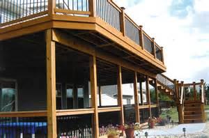 two story deck duke construction residential work