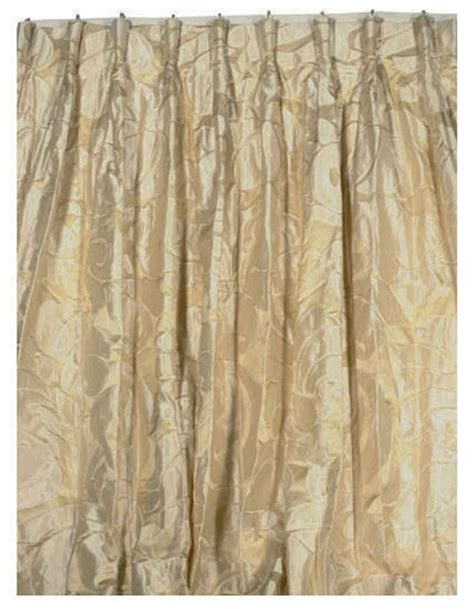 white silk drapes four panels of cream and off white silk curtains late
