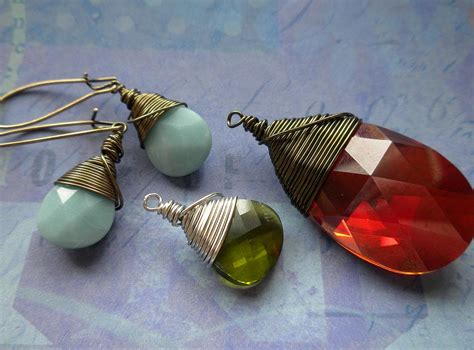 how to make wire wrap jewelry how to wire wrap a briolette rings and things