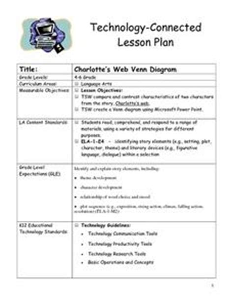 venn diagram lesson plan s web venn diagram 4th 6th grade lesson plan