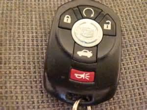 2006 Cadillac Sts Key Fob Windows From Keyfob