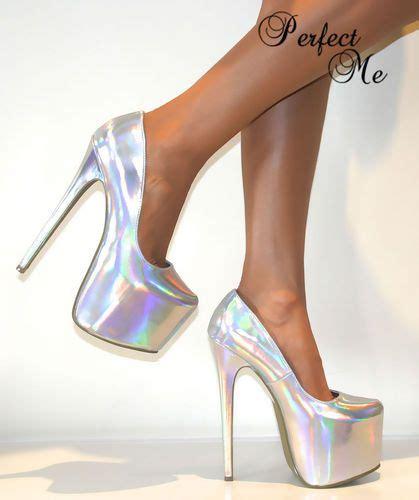 Higheels Details details about silver concealed platform court shoe stiletto high heels pumps