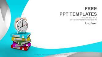 alarm clock and books education ppt templates