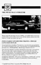 hayes car manuals 1993 cadillac deville user handbook where is the maxi fuse in a 1993 cadillac deville 1993 cadillac deville support