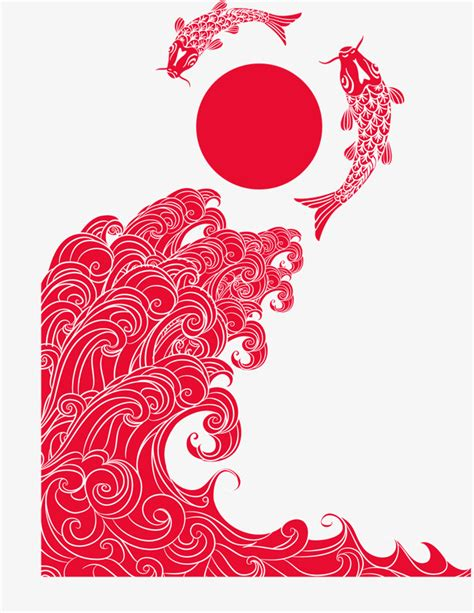 japanese illustration now 0500289700 traditional japanese illustrations gules wave traditional background png and vector for free