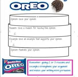 Oreo Template For Persuasive Writing by Image Gallery Opinion Writing Oreo