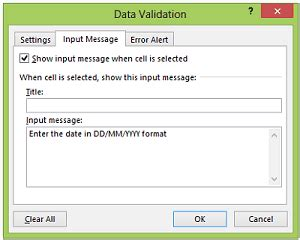 excel 2007 format data validation input message box excel vba freeze panes position comment boxes freeze