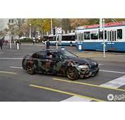 F10 BMW M5 Gets A Camouflage Wrap