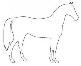 horse template childs play pinterest patterns horse