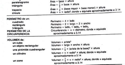 examen es de practica para el ged en espanol ged matem 225 ticas hoja de formulas que se utiliza en el