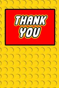 building block thank you card foldable digital file on etsy 6 00 lego