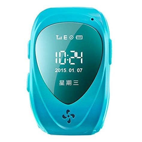 Smartwatch Q50 Q50 Smart For With Gps Sim Card Blue walsoon q50 gps tracker and smartwatch blue