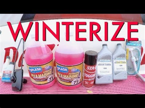 how to winterize a boat without starting it how to winterize your boat lower end unit motor youtube