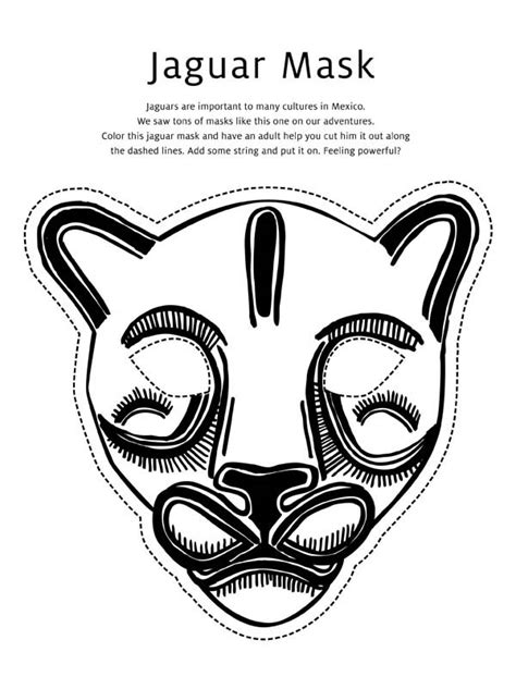 printable jaguar mask printable jaguar mask pictures to pin on pinterest pinsdaddy
