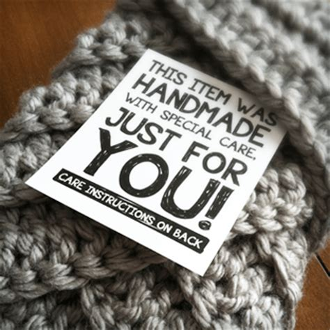 Tags For Handmade Crochet Items - printable labels for handmade items monkeys