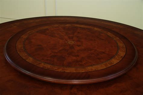 round table with lazy susan affordable round high end dining table mahogany and walnut