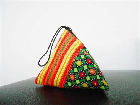 pattern for triangle coin purse with zipper pyramid coin purse small bag zipper pocket pouch