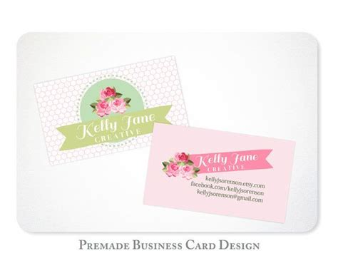 shabby chic business cards premade shabby chic business card design customize