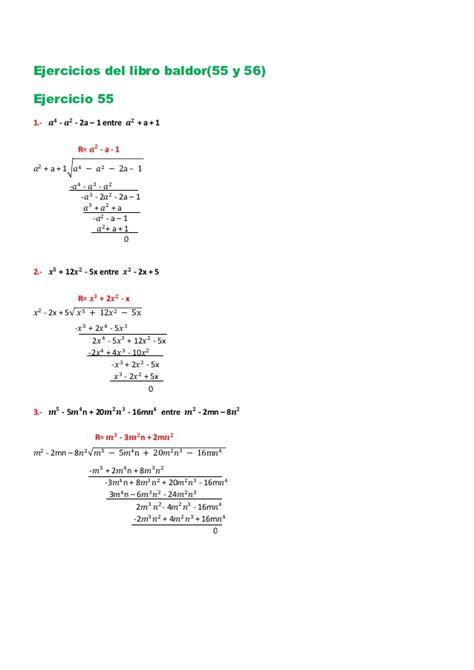 libro ejercicios preparatotios arpegios y ejercicios del libro de algebra intermedia y baldor3