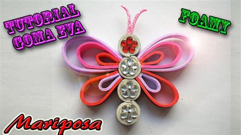 Imagenes De Mariposas Amarillas En Foami | tutorial mariposa foamy coraz 243 n youtube