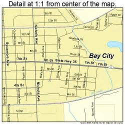 map of bay city bay city map 4805984