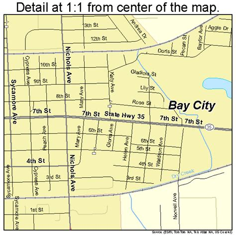 texas city tx map bay city texas map 4805984