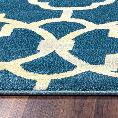 Quatrefoil Area Rug Sorrento Quatrefoil Trellis Area Rug In Navy Gray Yellow 7 10 Quot X 10 10 Quot