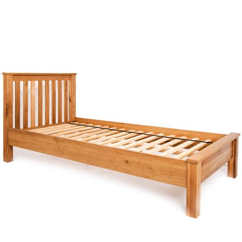 natural wood bed frame 3ft single bed frame low end bedstead solid wood natural