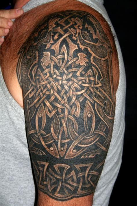 celtic quarter sleeve tattoo designs tattoo designs for men tattoos for men