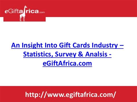 Gift Industry Card - an insight into gift cards industry statistics survey analsis