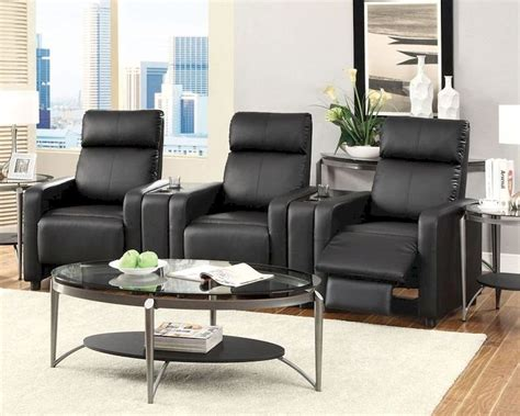 recliner theatre chairs coaster recliners theater seating push back recliner set