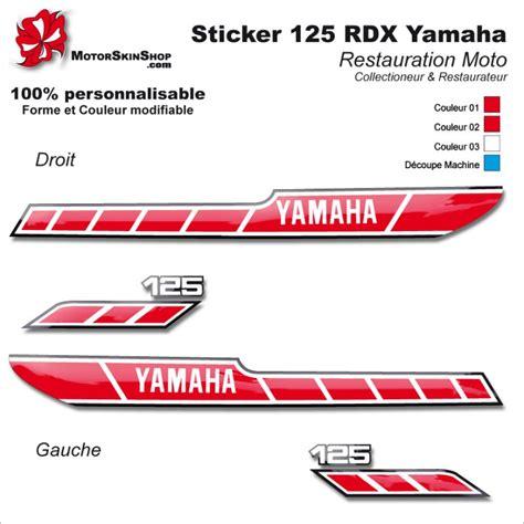 Sticker Yamaha 125 Dtr by Sticker 125 Rdx 1978 Moto Yamaha