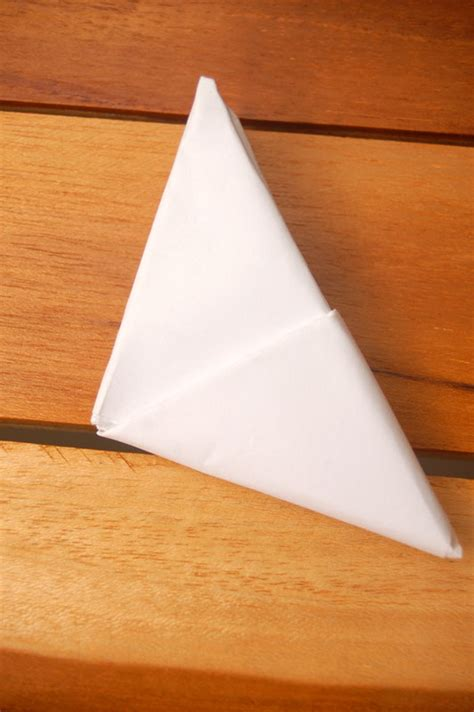 Fold Paper Into Triangle - how to fold a note into a secret triangle 11 steps