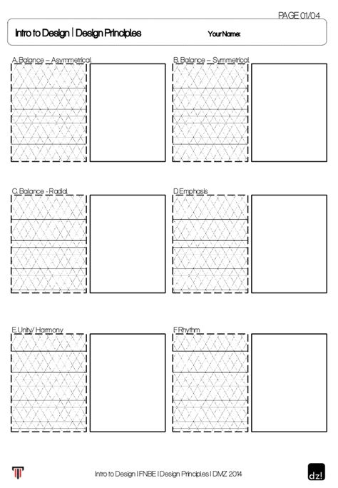 home design worksheet worksheet for design principles