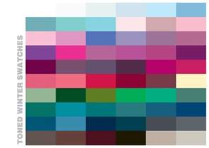 Color Swatches by Stay Tuned The New 4x4 Toned Winter Color Swatches Coming
