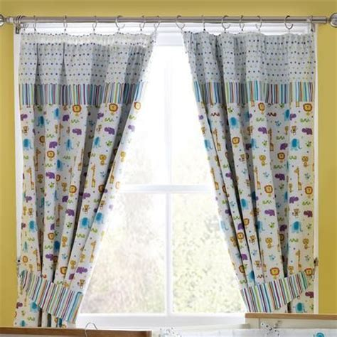 Kids Jungle Time Blackout Pencil Pleat Curtains Dunelm Dunelm Nursery Curtains
