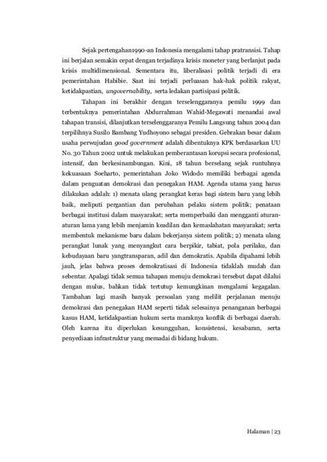 Politik Hak Asasi Manusia Dan Transisi Di Indonesia Robertus Robet perkembangan konsep demokrasi dan hak asasi manusia di
