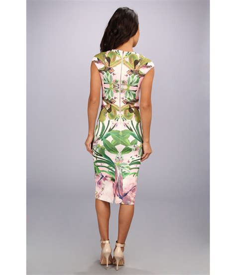 Safiya Dress lyst ted baker safiya jungle orchid print dress