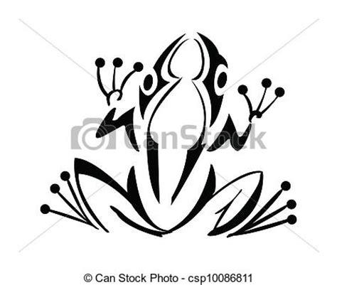 clip art vecteur de tatouage grenouille grenouille