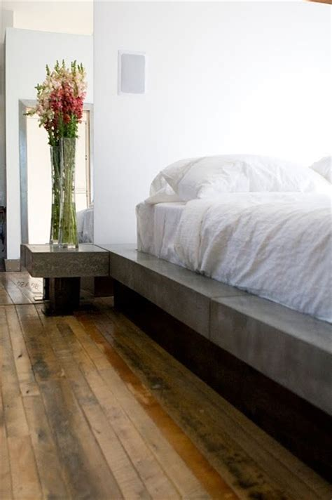 concrete bed concrete pinterest