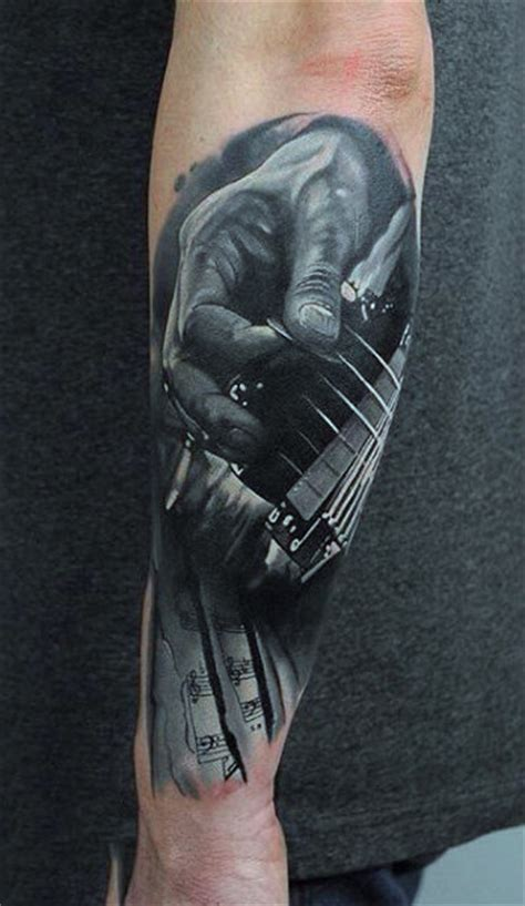 tattoo 3d guitar 100 music tattoos for men manly designs with harmony