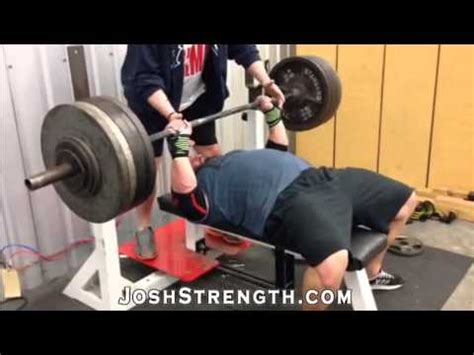 raw bench press training bj whitedhead 530 raw bench press training pr youtube