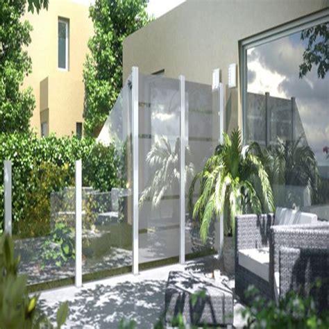 Sichtschutz Garten 120 Cm Hoch by Br 252 Gmann Sichtschutzzaun System Glas Klar Rechteck 120 X