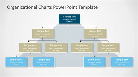 Organizational Charts Powerpoint Template Slidemodel Powerpoint Organizational Chart Templates