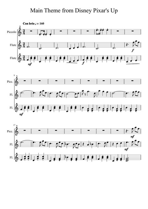 theme music up main theme from disney pixar s up alternate musescore