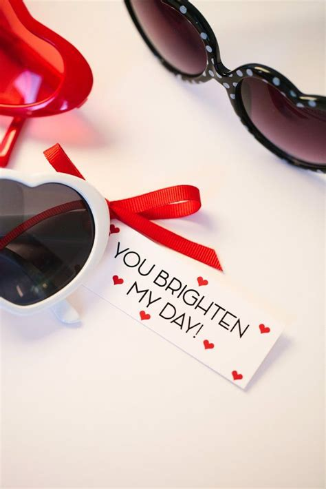 Tag Heuer Sunglasses For Valentines Day by You Brighten My Day Free Printable S Day Gift