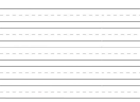 Free Printable Kindergarten Lined Paper Template
