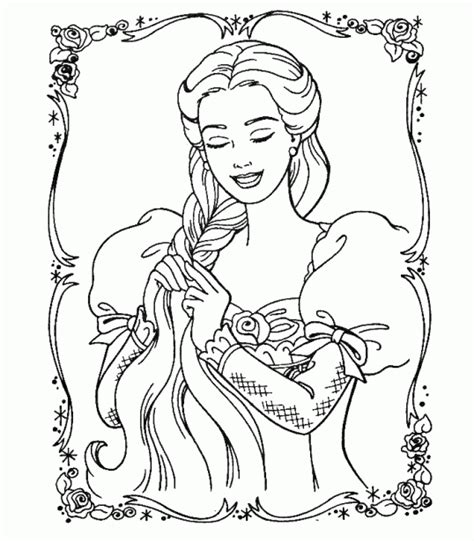 barbie rapunzel coloring pages free printable coloring