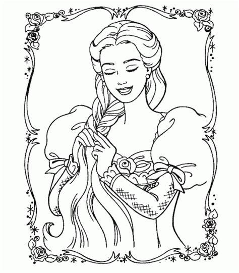 coloring pages barbie rapunzel barbie rapunzel coloring pages free printable coloring